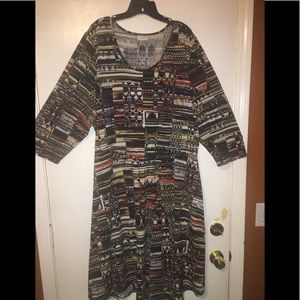 Avenue Aztec Skater Dress Plus Size